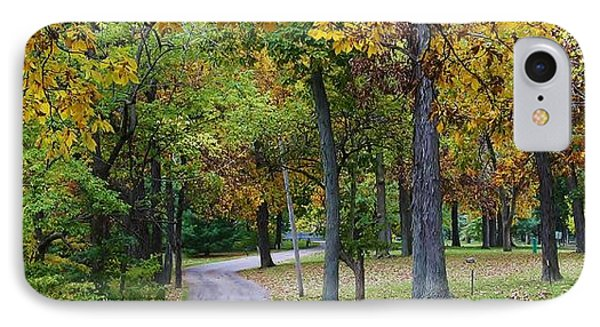 Stroll Through The Park IPhone Case by Bruce Bley