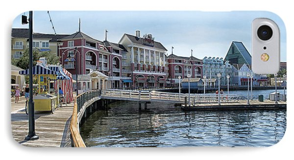 Strolling On The Boardwalk At Disney World IPhone Case by Thomas Woolworth