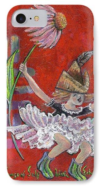 Strong Sense Of Self - Flower Essence Series IPhone Case by Maria Valladarez