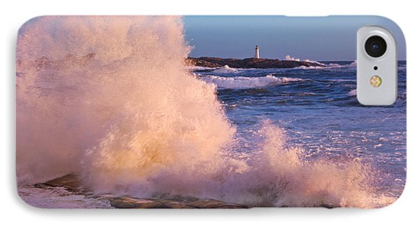 Strong Winds Blow Waves Onto Rocks Phone Case by Thomas Kitchin & Victoria Hurst