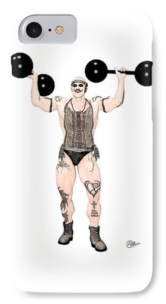 Strongest Man Native  IPhone Case by Quim Abella