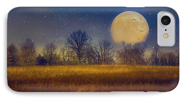 Struck By The Moon IPhone Case by John Rivera