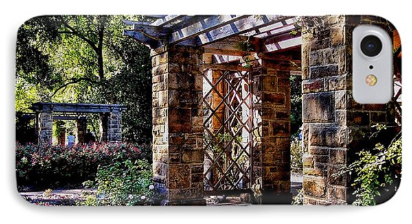 Structures In Ft Worth Botanic Gardens IPhone Case