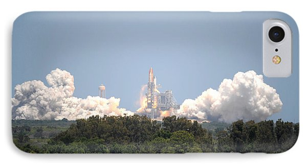 IPhone Case featuring the photograph Sts-132, Space Shuttle Atlantis Launch by Science Source