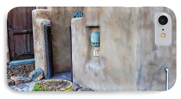 Stucco Condo In Santa Fe IPhone Case by Carrie OBrien Sibley