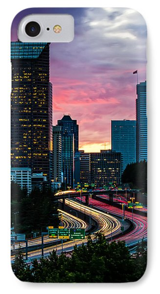 Stuck In Traffic IPhone Case by Steven Lamar