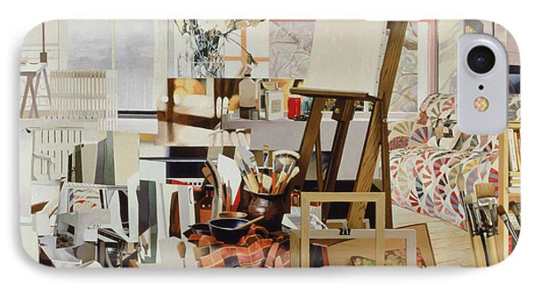Studio, 1986 Oil On Canvas IPhone Case by Jeremy Annett