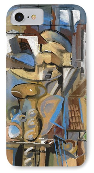 Studio With Cello IPhone Case by Clyde Semler