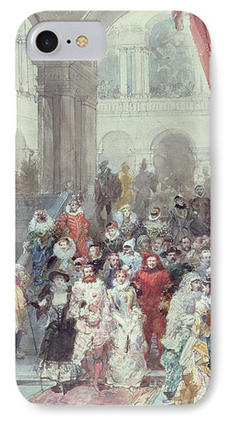 Study For A Costume Ball Given By The Princess Of Sagan IPhone Case by Eugene-Louis Lami