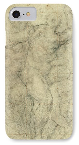 Study For A Group Of Nudes Phone Case by Jacopo Pontormo