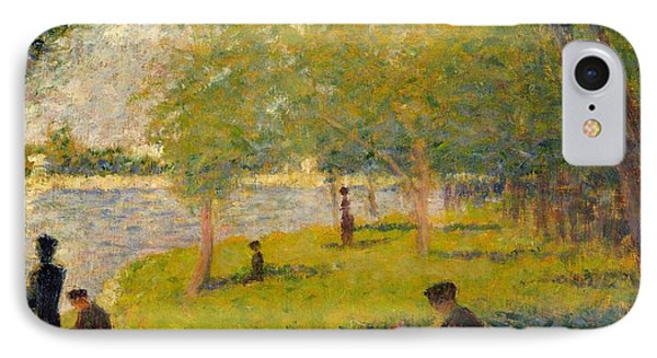 Study For A Sunday On La Grande Jatte IPhone Case by Georges Seurat