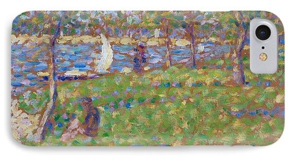 Study For La Grande Jatte IPhone Case by Georges Seurat