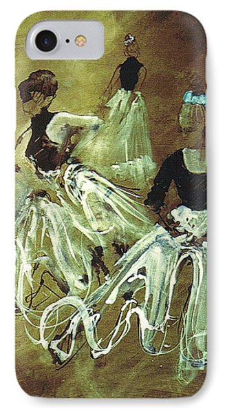 Study For Spanish Rehearsal Phone Case by Podi Lawrence