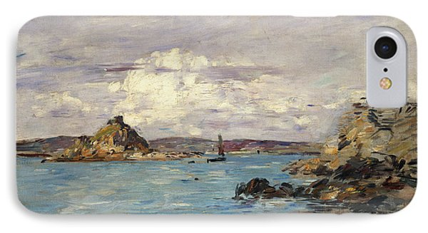 Study For The Bay Of Douarnenez IPhone Case by Eugene Boudin