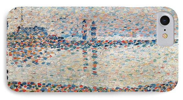 Study For The Channel At Gravelines Evening Phone Case by Georges Pierre Seurat