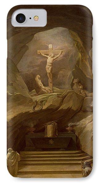 Study For The Chapelle Du Calvaire In The Eglise De Saint-roch Oil On Canvas IPhone Case by Nicolas-Bernard Lepicie