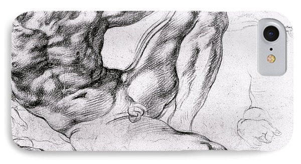 Study For The Creation Of Adam IPhone Case