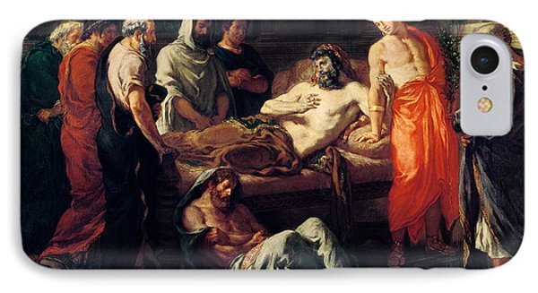 Study For The Death Of Marcus Aurelius IPhone Case by Ferdinand Victor Eugene Delacroix