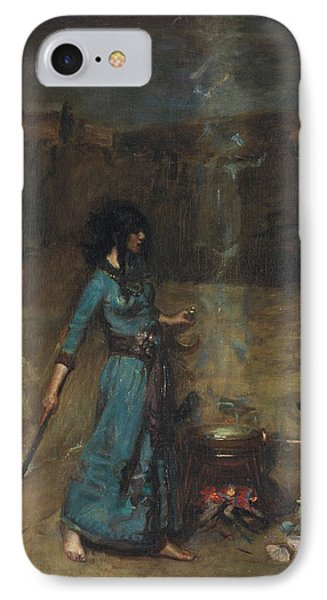Study For The Magic Circle, 1886  IPhone Case by John William Waterhouse