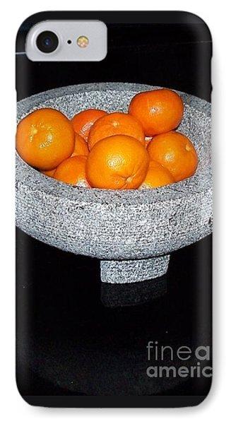 Study In Orange And Grey IPhone Case
