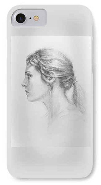 Study In Profile Phone Case by Sarah Parks