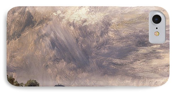 Study Of A Cloudy Sky Cloud Study Landscape With Grey Windy IPhone Case by Litz Collection