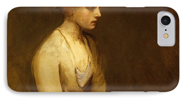 Study Of A Fair Haired Beauty  Phone Case by Jean Jacques Henner