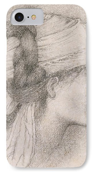 Study Of A Female Head To The Right Phone Case by Sir Edward Coley Burne-Jones