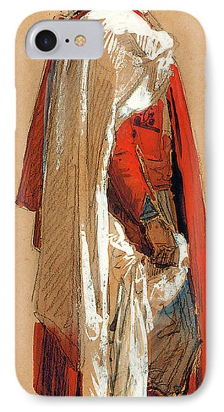 Study Of A Man In Oriental Costume IPhone Case by Isidore Pils