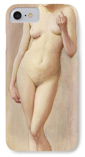 Study Of A Nude II IPhone Case by Murray Bladon