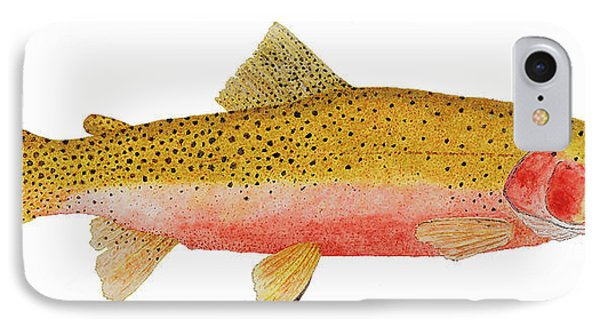 IPhone Case featuring the painting Study Of A Westslope Cutthroat Trout by Thom Glace