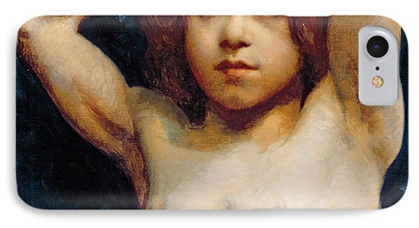 Study Of A Young Boy IPhone Case by William John Wainwright