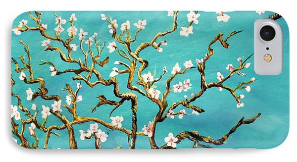 Study Of Almond Branches By Van Gogh IPhone Case by Donna Dixon