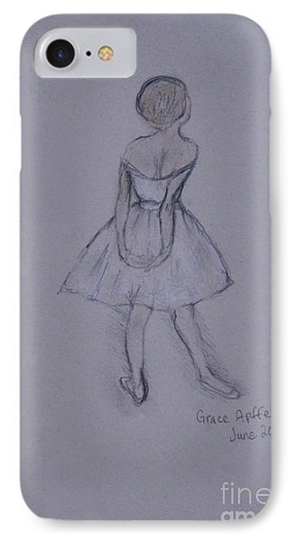 Study Of Degas Ballet Dancer IPhone Case by Jennifer Apffel
