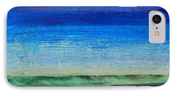IPhone Case featuring the painting Study Of Earth And Sky by Linda Bailey