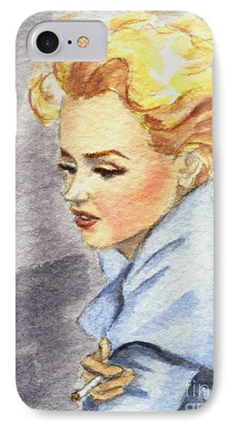 IPhone Case featuring the painting study of Marilyn Monroe by Jingfen Hwu