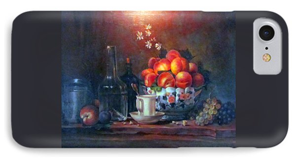 IPhone Case featuring the painting Study Of Peaches by Donna Tucker