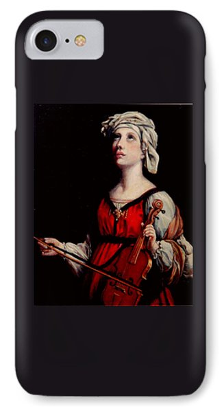 Study Of St. Cecelia Phone Case by Donna Tucker