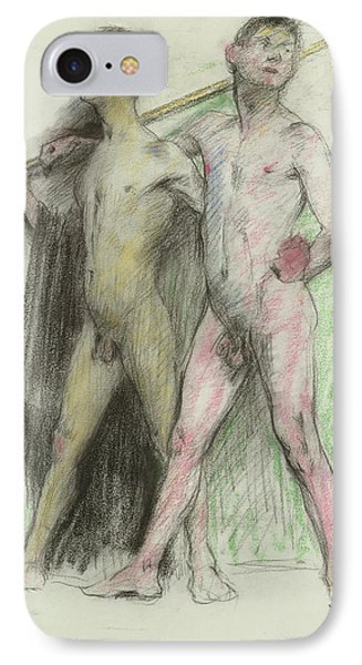 Study Of Two Male Figures  IPhone Case