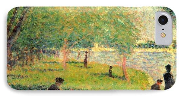 Study On La Grande Jatte IPhone Case by Georges Seurat