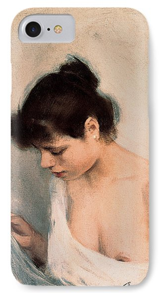 Study IPhone Case by Ramon Casas i Carbo