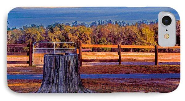 Stump Still Standing IPhone Case by Lewis Mann