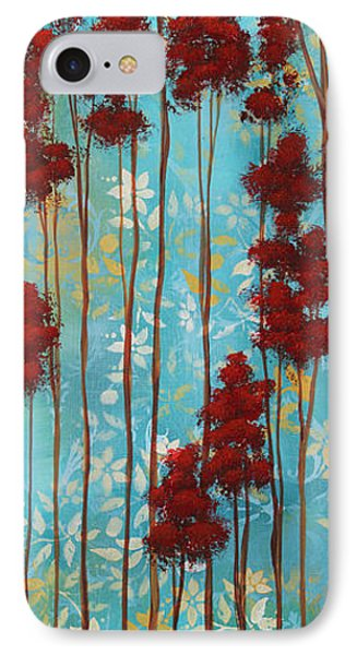 Stunning Abstract Landscape Elegant Trees Floating Dreams I By Megan Duncanson Phone Case by Megan Duncanson
