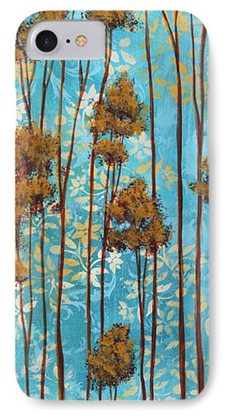 Stunning Abstract Landscape Elegant Trees Floating Dreams II By Megan Duncanson Phone Case by Megan Duncanson