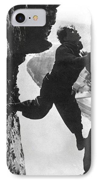 Stuntman Luciano Albertini IPhone Case by Underwood Archives