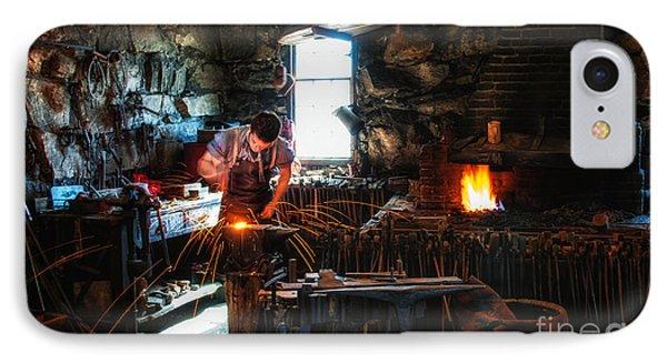 Sturbridge Village Blacksmith Phone Case by Scott Thorp