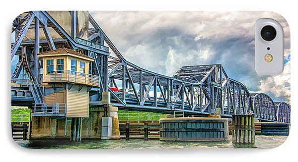 Sturgeon Bay Historic Michigan Street Bridge In Door County IPhone Case by Christopher Arndt