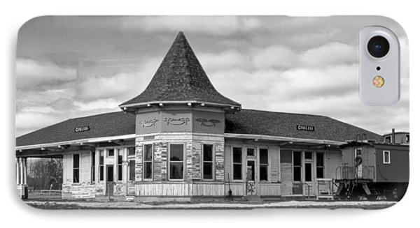 IPhone 7 Case featuring the photograph Sturtevant Old Hiawatha Depot In Hdr by Ricky L Jones