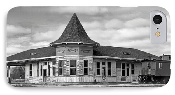 IPhone Case featuring the photograph Sturtevant Old Hiawatha Depot In Hdr by Ricky L Jones