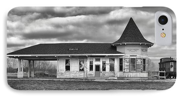 IPhone 7 Case featuring the photograph Sturtevant Old Hiawatha Depot by Ricky L Jones